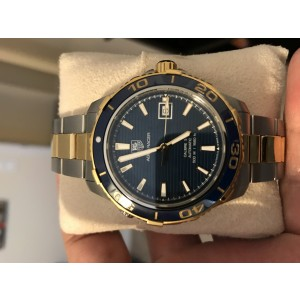 Tag Heuer Aquaracer Stainless Steel and Yellow Gold 40mm Mens Watch