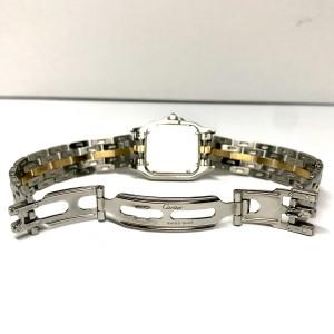 CARTIER PANTHERE 22mm 18K Gold & Steel DIAMOND Bezel Ladies Watch