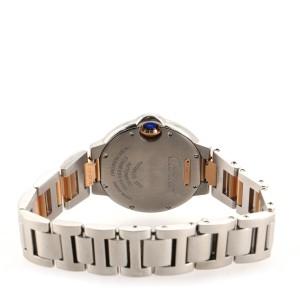 Cartier Ballon Bleu de Cartier Automatic Watch Stainless Steel and Rose Gold 33