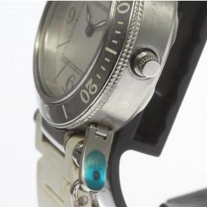 Cartier Pasha Sea Timer  W3140002 Stainless Steel Quartz 32mm Womens Watch