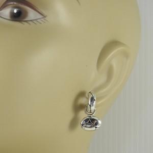 John Hardy Sterling Silver Kali Charm Hoop Earrings