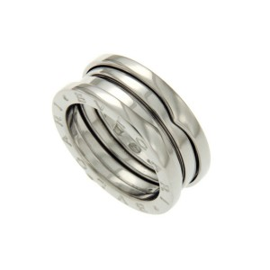 Bulgari B-Zero1 18K White Gold Ring Size 6.25