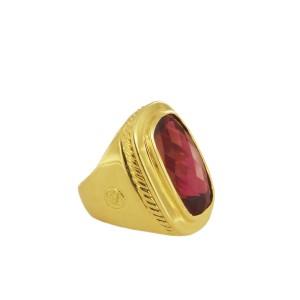 David Yurman 18k Yellow Gold Pink Tourmaline Ring