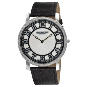Stuhrling Hyperion 904.33152 Stainless Steel & Leather 46mm Watch