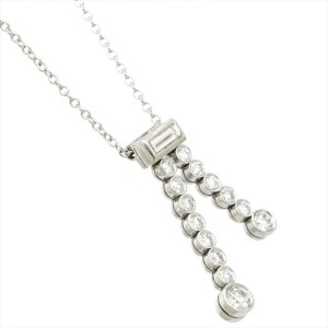 TIFFANY & Co Platinum Diamond Jazz Drop Necklace RCB-120