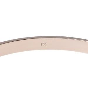 Cartier Love 18K White Gold Bangle Bracelet Size 21