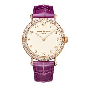Patek Philippe Calatrava 7200/200R-001 18K Rose Gold & Leather 0.18ct Diamond 34.6mm Watch