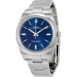 Rolex Oyster Perpetual 114300 blio Stainless Steel 39mm Unisex Watch