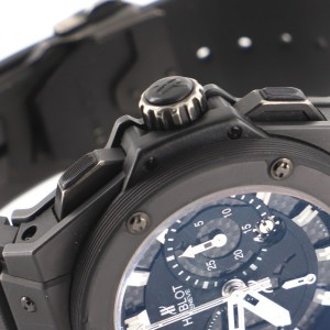 Hublot Big Bang King Power Black Magic Chronograph Automatic Watch Titanium and Ceramic with Carbon and Rubber 48