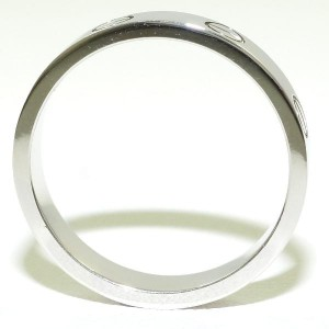 Cartier Mini Love 18K White Gold Ring Size 6
