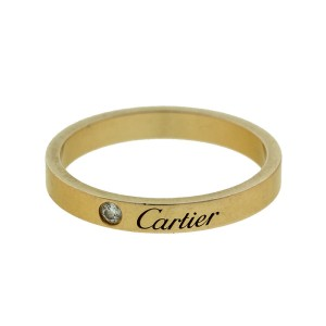 Cartier 18k Rose Gold Diamond Wedding Band Ref B4086400