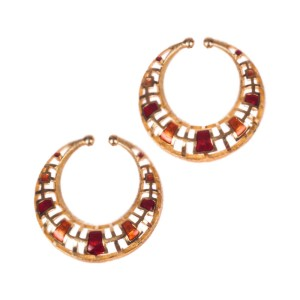 Givenchy Red Enamel Disc Earrings