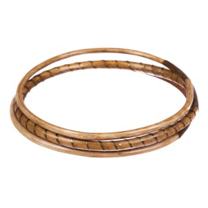 Golden Coral Bangle Set