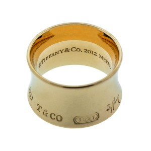 Tiffany & Co. 18k Rose Gold 1837 Rubedo Wide Band Ring