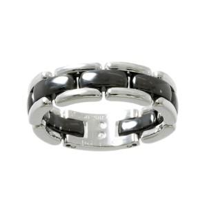 CHANEL 18K white gold Ceramic ultra Ring