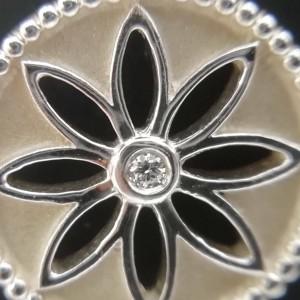 Tiffany & Co. silver 1P Diamond Daisy necklace