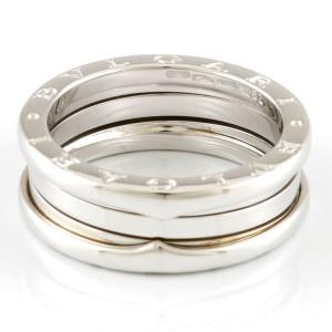 BVLGARI 18K white gold B-zero.1 B zero one 3 band ring Ring CHAT-469