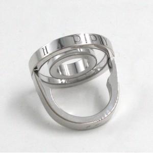 Chopard 18K White Gold Happy Diamond Ring Size 6.5