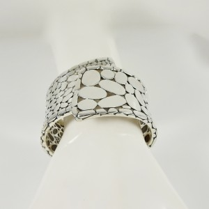 John Hardy Kali Wide Overlap Cuff Bracelet 925 Sterling Silver