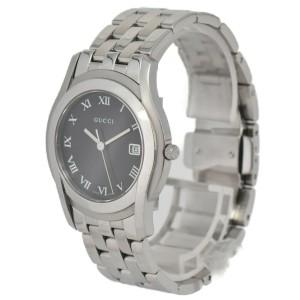 Gucci 5500M Black Dial Stainless Steel Quartz Men's Watch