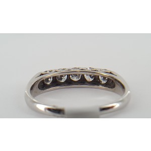 14K White Gold 1ct Diamond Band Size 8.0