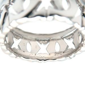 Cartier 18k White Gold Entrelace Ring