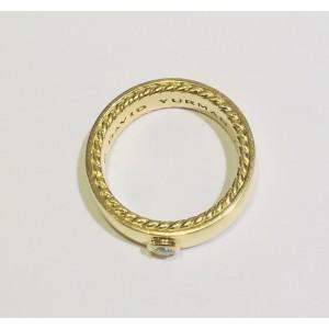 David Yurman Streamline 18K Yellow Gold with 0.20ct. Diamond Band Ring Size 10