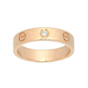 Cartier 18K pink gold 1p Diamond Love Ring