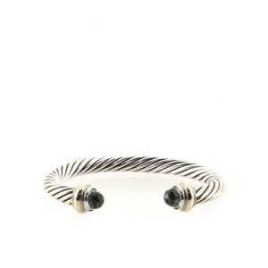 David Yurman Cable Classic Bracelet Sterling Silver with 14k Yellow Gold and Prasiolite 7mm