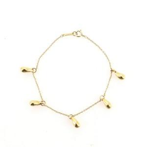 Tiffany & Co. Elsa Peretti 5 Teardrop Bracelet 18K Yellow Gold