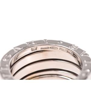 Bulgari 18K White Gold B.zero1 4 Band Ring Size 4.5