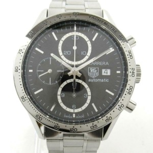TAG HEUER Stainless steel/Stainless steel Carrera watch RCB-51