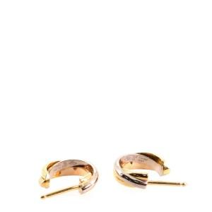 Cartier Trinity Hoop Earring Earrings 18K Tricolor Gold