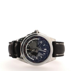 Breitling Galactic Unitime Automatic Watch Stainless Steel and Leather 44