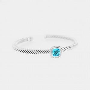David Yurman Albion Bracelet with Blue Topaz and Diamonds
