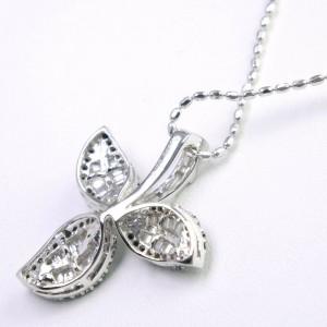 Clover 18k white gold/diamond Necklace
