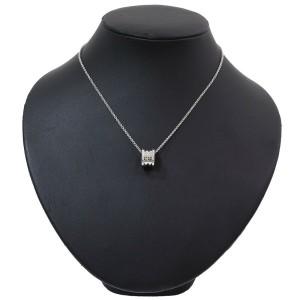 BULGARI BVLGARI 18K White Gold B.ZERO1 Small Round Pendant Necklace