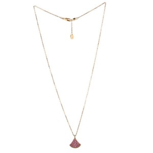 Bvlgari Diva's Dream Pendant Necklace 18K Rose Gold with Pink Sapphires and Diamond