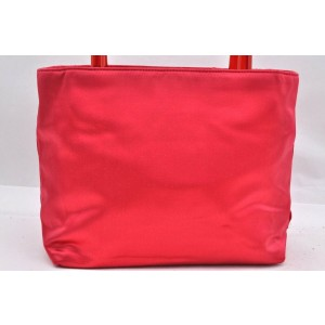 PRADA Satin Hand Bag Red