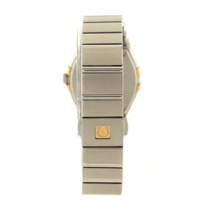 Omega Constellation Quartz Watch Stainless Steel with Rose Gold Bezel and Diamond Markers 24