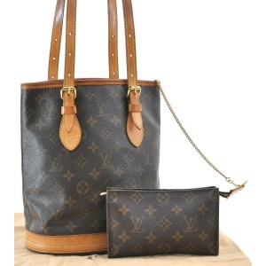 Louis Vuitton Monogram Bucket PM Shoulder Bag M42238