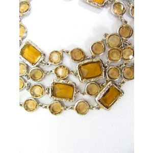 Chanel Sautior Gold Tone Hardware with Necklace
