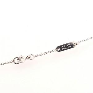 Van Cleef & Arpels Cross Pendant Necklace 18K White Gold and Diamonds Mini