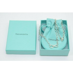 """Tiffany & Co. Sterling Silver Infinity Necklace 18"""""""