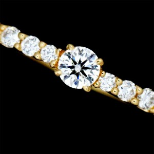 4C 18k yellow gold Diamond Ring