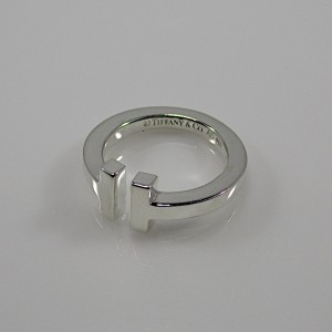 Tiffany & Co. T Square Silver Ring Size 5