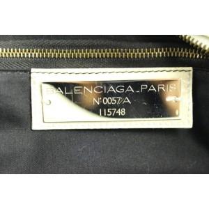 Balenciaga Balsl06 Medium City Beige Leather Satchel