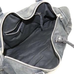 Balenciaga Boston Bag Polo Squash 871883 Black Leather Satchel