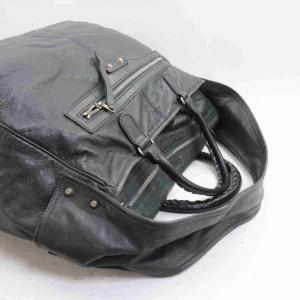 Balenciaga Charcoal Classic Bridge 2way 860044 Gray Leather Shoulder Bag