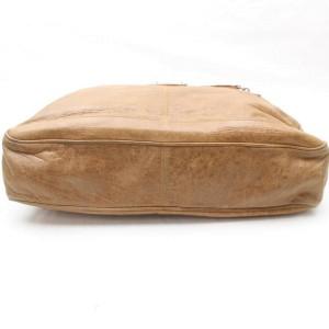 Balenciaga Document Briefcase Attache 869625 Brown Leather Laptop Bag